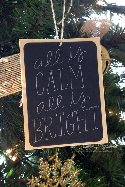 all is calm ornament by Kimberly Crawford