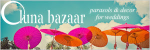 Wedding Parasols from Luna Bazaar