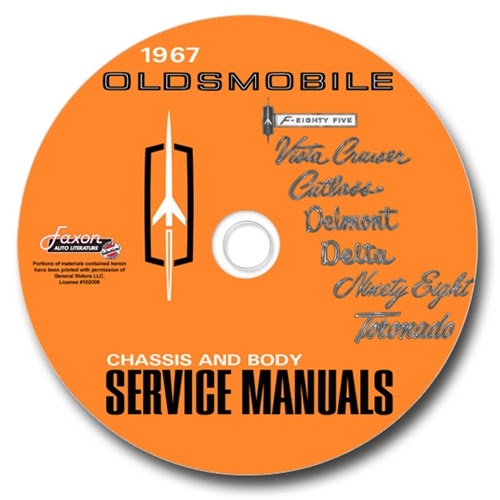 1967 Olds Cutlass 442 F85 Wiring Diagram Manual Reprint