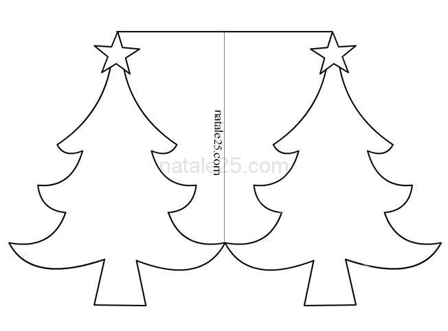 Biglietto Albero Di Natale Da Colorare Natale 25