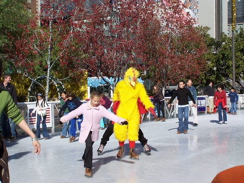 ice skating chicken