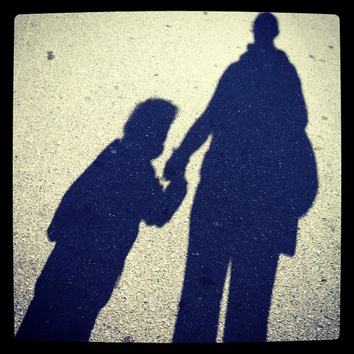 Our shadows...wish this one would stay little... #shadows, #1000gifts