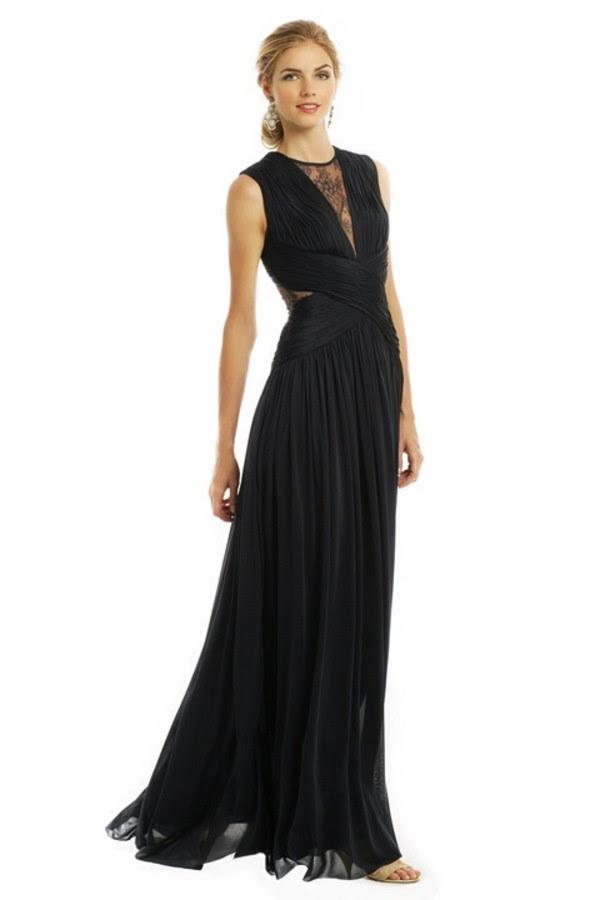 Black jersey evening dress