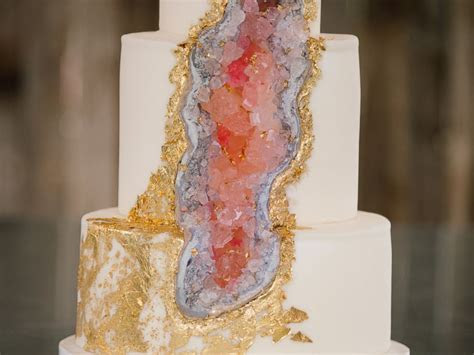 New Geode Wedding Cake Rocks   ABC News
