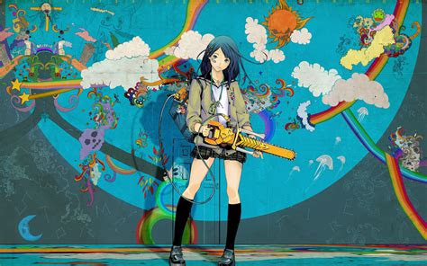 animewallpaperchainsaw coolvibe digital artcoolvibe