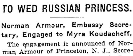 Norman Armour to Wed Russian Princess