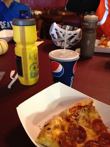 Pizza and soda in Independence