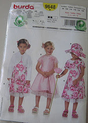 the pattern for the pink dress :: burda-mønsteret til den rosa kjolen