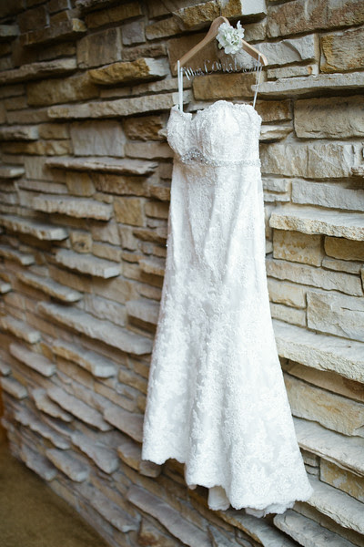 Dress hanging at the Hyatt Lodge at the McDonald's Campus in Oak Brook Il. Photo by Mindy Joy Photography