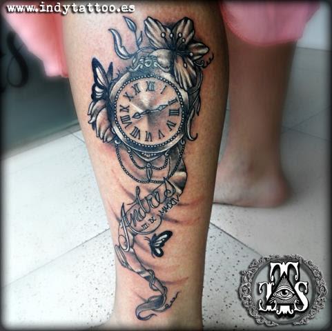 Reloj Flores Nombre Indy Tattoo Tatuajes Online
