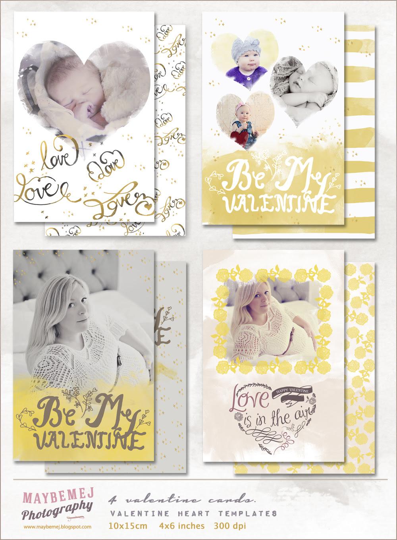 valentine card template / overlay