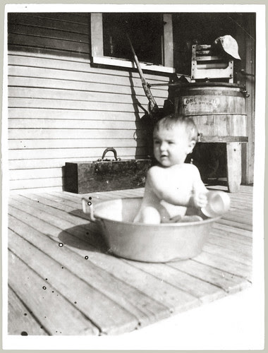 Kid in a tub