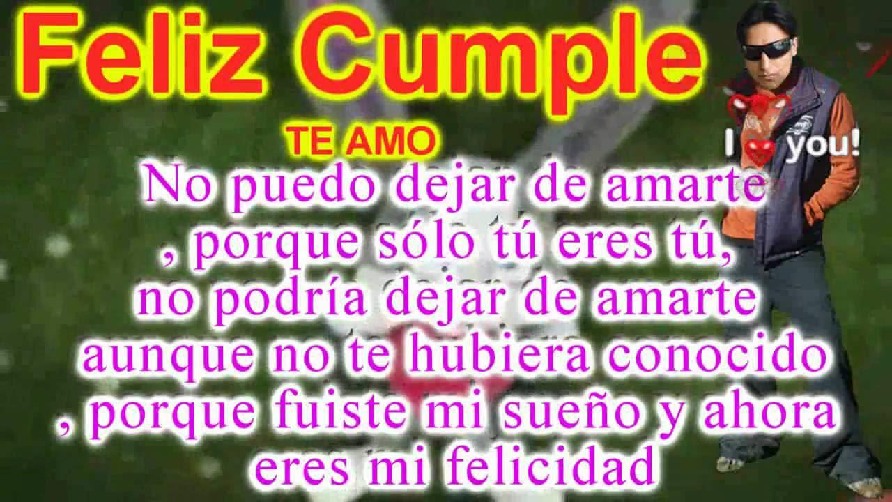 Frases De Feliz Cumpleanos Amor Mio Tarjetas De Felicitacion