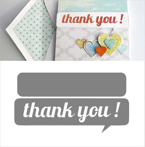 thank you speech bubble - free silhouette cut file