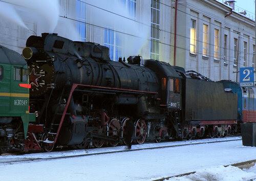 Паровоз ЛВ-0182 на ст. Рязань-I