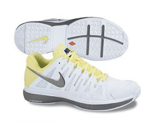 NIKE Zoom Vapor 9 Tour Ladies Tennis Shoes, WhiteGrey