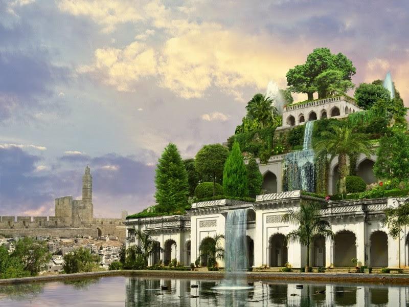 Висячие сады Семирамиды (Вавилон — Ирак, Месопотамия) — Сад чудес в Дубае (Дубай, Арабские Эмираты). интересное, история, монументы, чудеса света