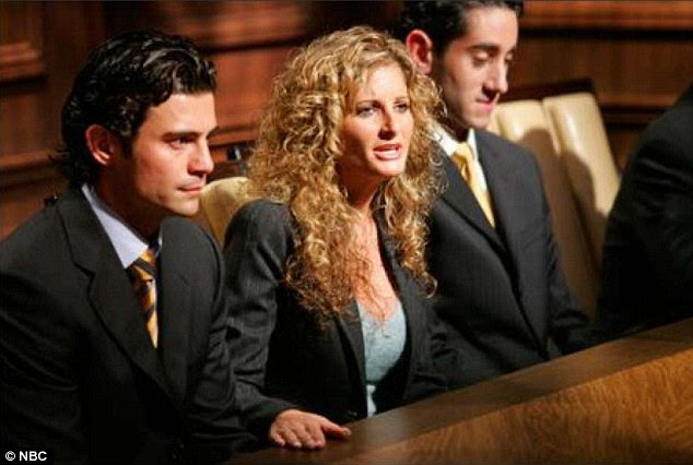 Anger: 'I wanted a job within your organization. Instead, you treated me as an object to be hit upon,' said Zervos (above on The Apprentice)