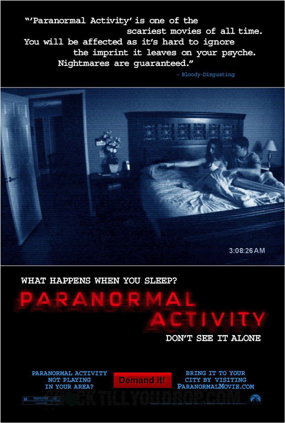 PARANORMAL ACTIVITY poster [click to enlarge]