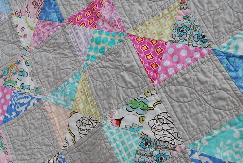 up close of quilting