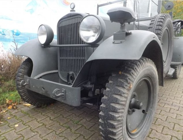 Nazi mass-murderer Heinrich Himmler's car, the military Wanderer W11/1, is going up for sale for £400,000 at a vintage car dealership in Germany