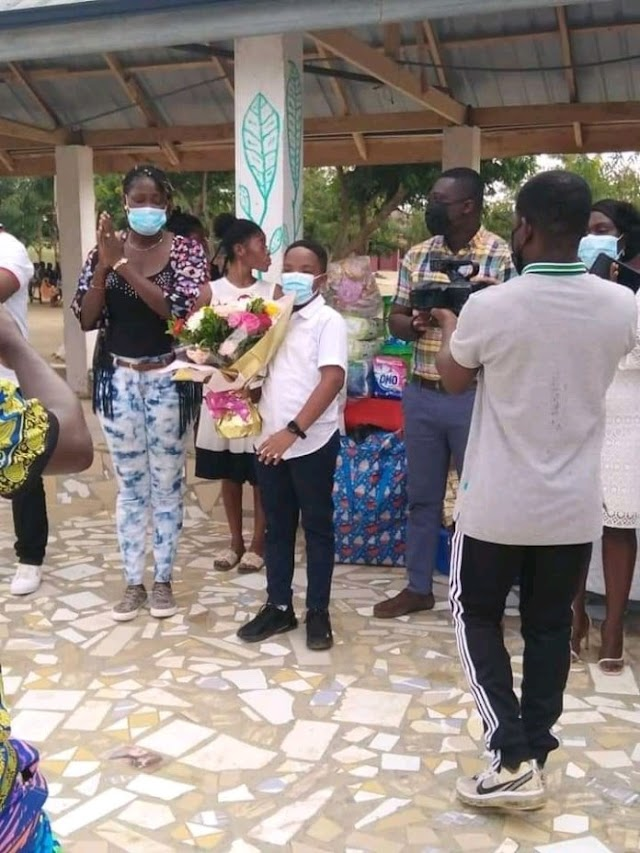 Oswald And Family  Donates The 'Our Day' Gifts To Orphanage [Photos]