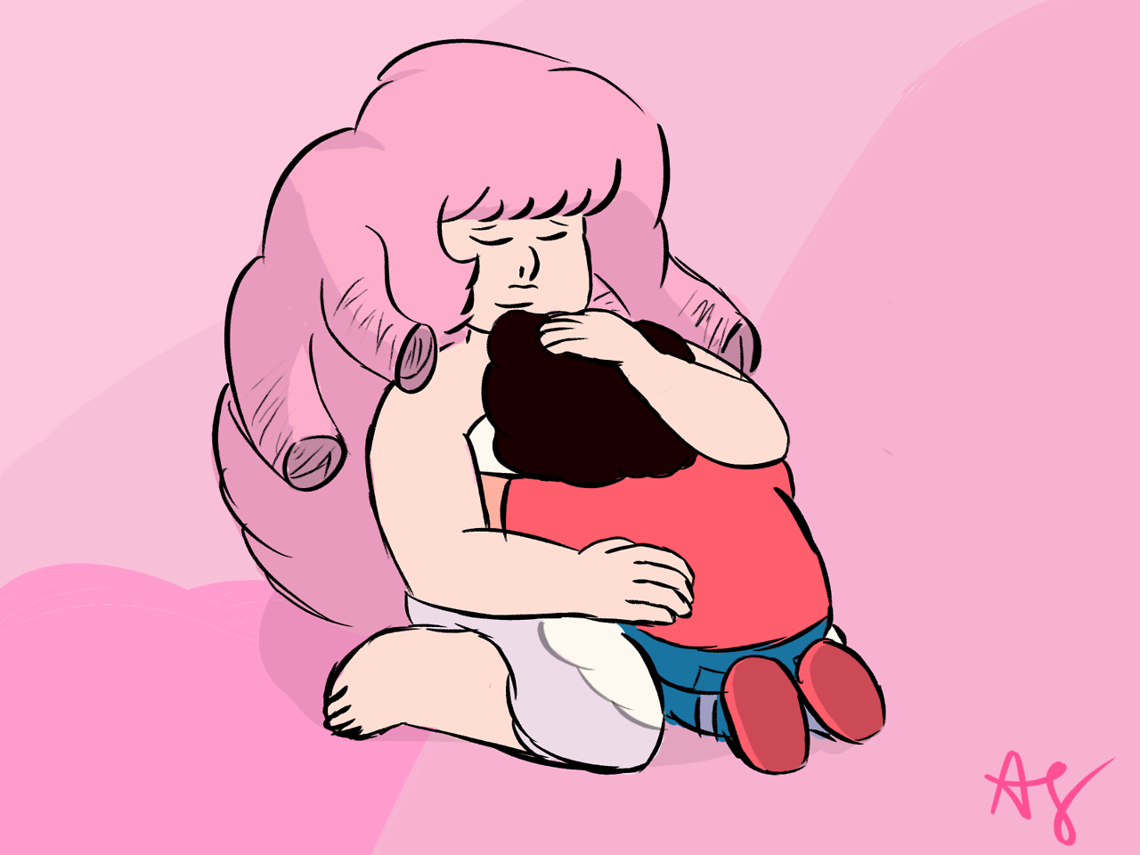 I kinda hope Steven goes into the room whenever he needs a cry and good hug from someone other than the gems