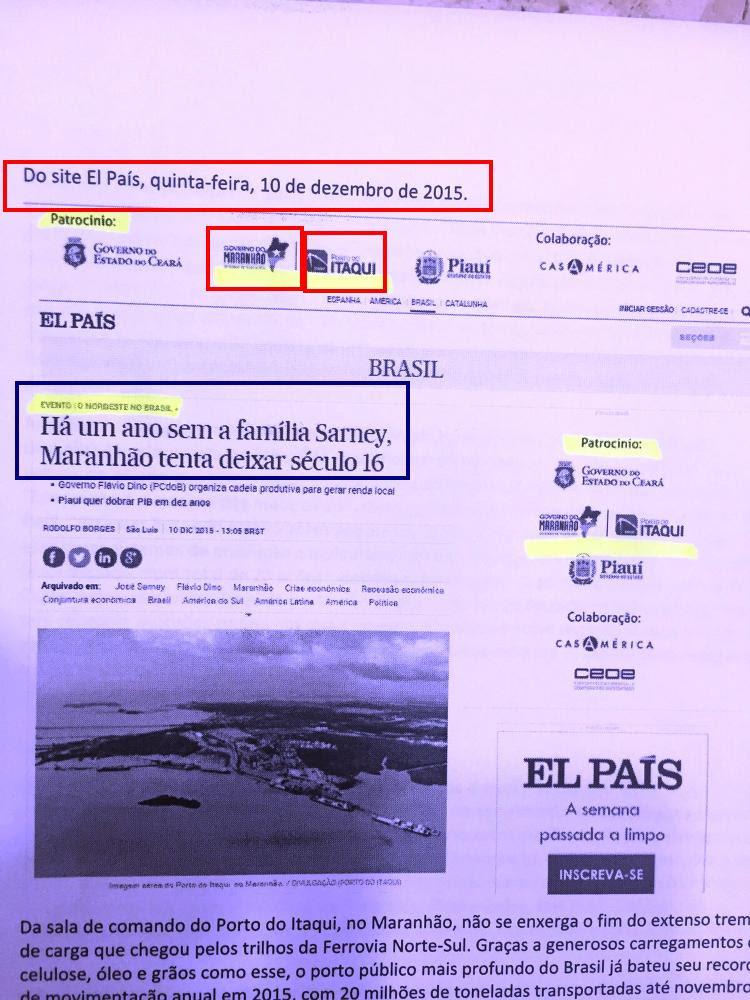 Site do El País: financiamento público para ataques políticos