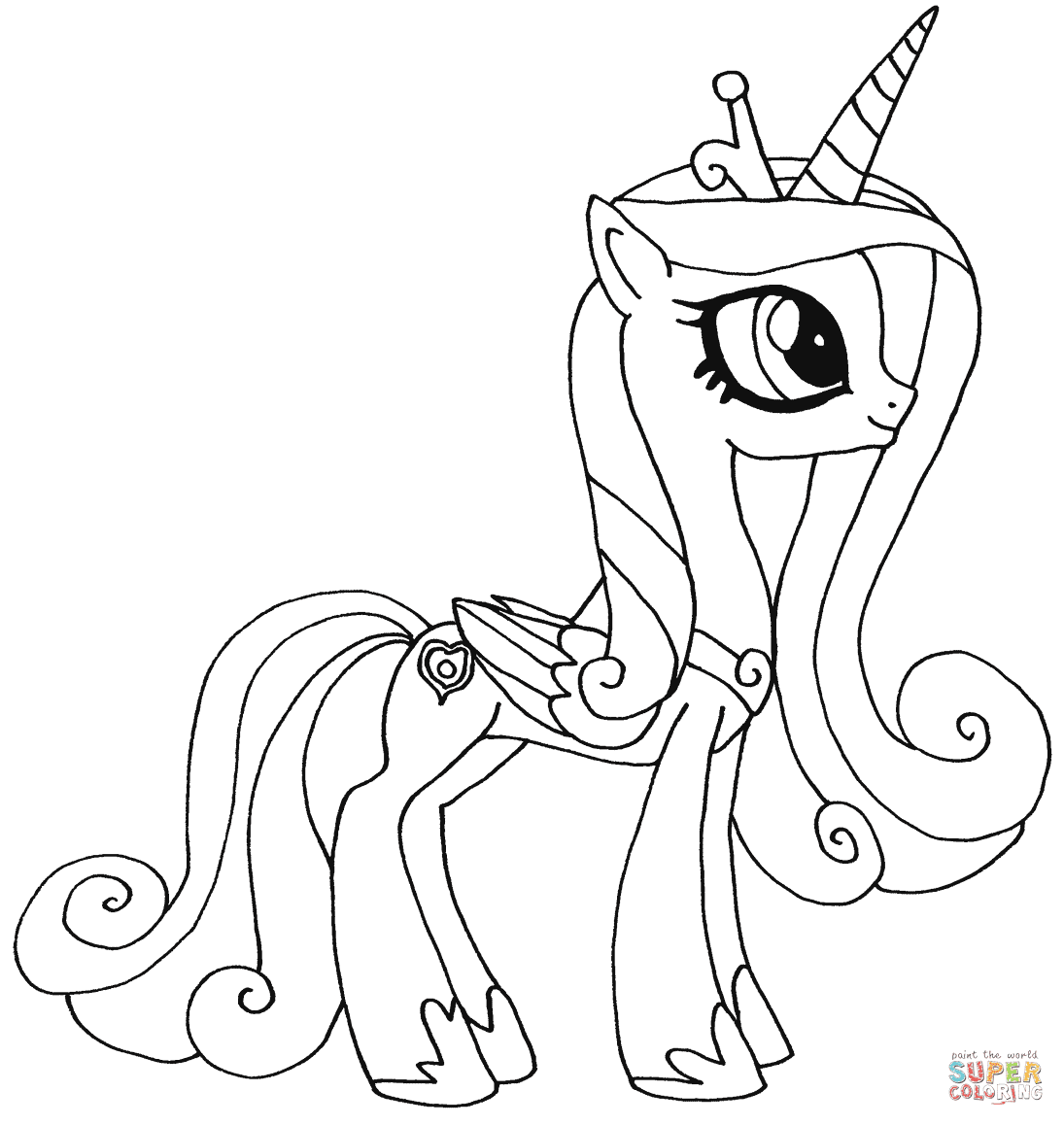 610 Colouring Page Of My Little Pony For Free