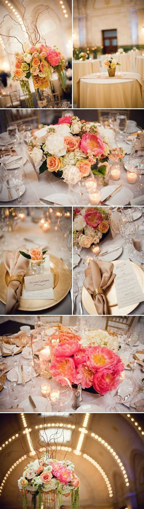 Ivory, Champagne, Gold and Peach Seattle Wedding