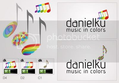 Danielku logo design digital process