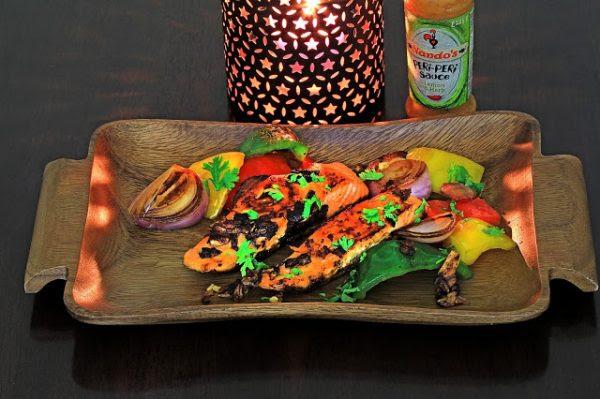 Salmon with Lemon and Herb Sauce-Art Antana