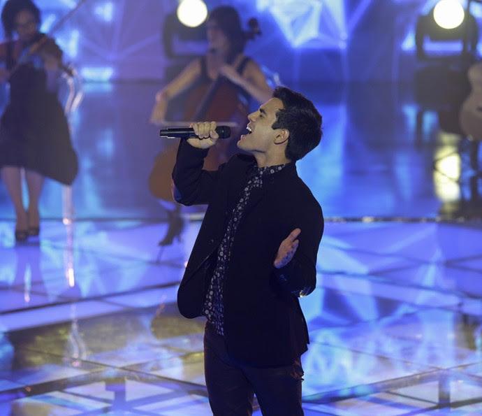 Bruno Gadiol em noite de Semifinal (Foto: Artur Meninea/Gshow)