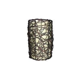 Portfolio 9-in H x 6-in W Wicker Fabric Mix and Match Mini Pendant Light Shade