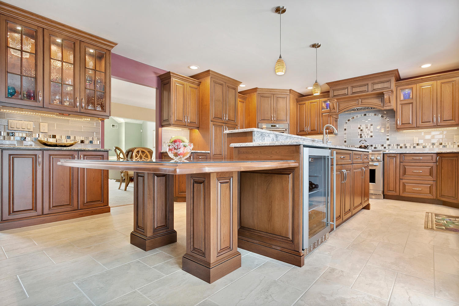 Stunning Cherry Kitchen Brick New Jersey by Design Line ...