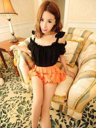 Sexy Off-the-shoulder Condole Bowknot Belt Chiffon Tops - US$8.49