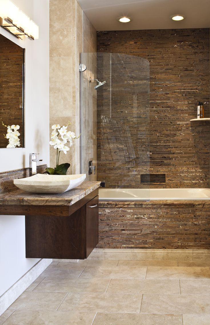 Forest Brown  Marble Bathroom  bathroom  tile  Pinterest