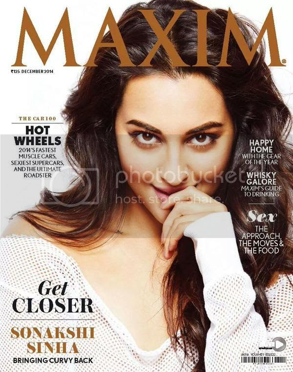 Sonakshi Sinha on the cover on Maxim Magazine