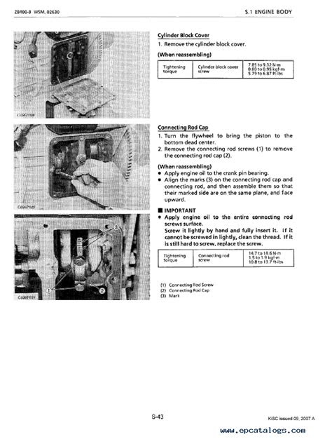 Kubota ZB400-B Diesel Engine Workshop Manual PDF