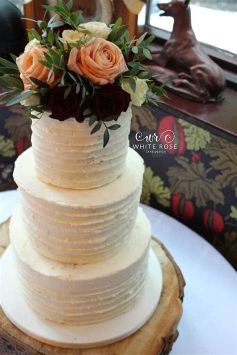 Rustic Winter Wedding Cake at The Crab and Lobster   White