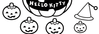 Free Printable Hello Kitty Halloween Coloring Pages