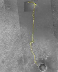 Opportunity's path so far. Image credit: NASA/JPL