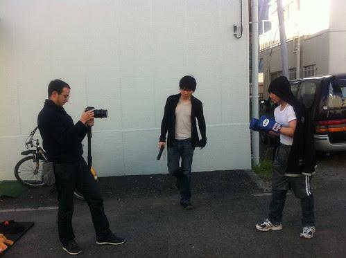 Mahmoud and Kong preparing scene of hobo boxer 2