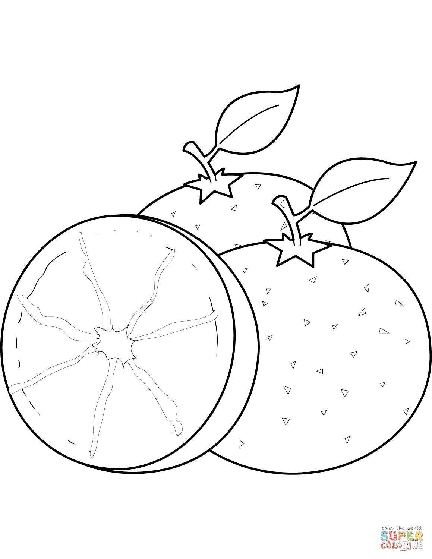 Dibujos De Naranjas Para Colorear Páginas Para Imprimir Y Colorear