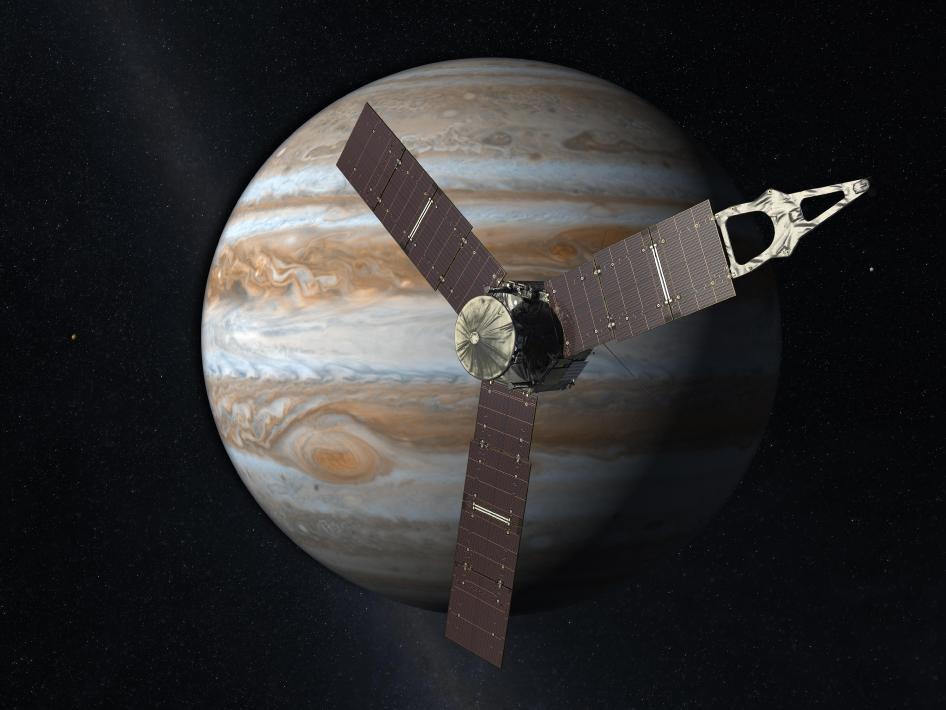 Juno Mission to Jupiter (2010 Artist's Concept)