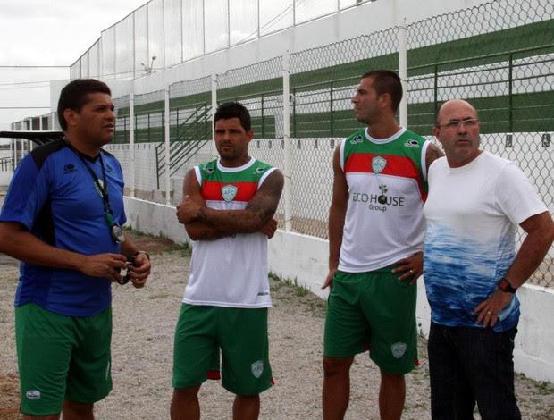 Rico e Renan Marques se apresentam ao Alecrim (Foto: Gabriel Peres/Divulgação)