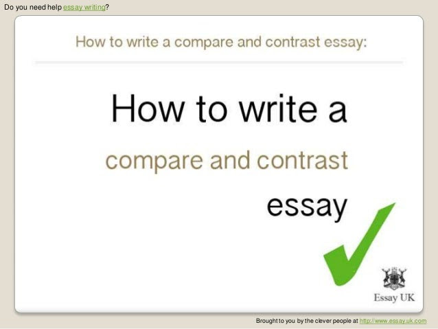 how to write a compare and contrast expository essay