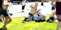 Pregadores são agredidos por ativistas homossexuais durante Parada do Orgulho Gay; Assista