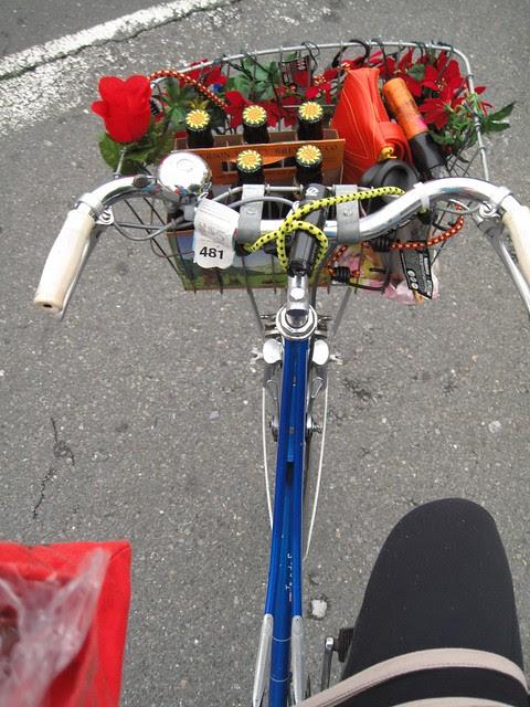 Bike beer basket y bag of nonnoms