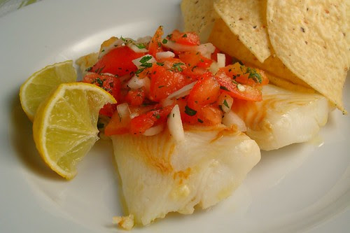 Halibut with Pico de Gallo